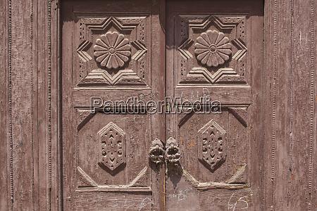 africa morocco marrakesh weathered wooden door