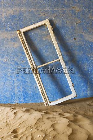 africa namibia kolmanskop window frame and