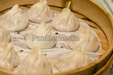xiao long bao steamed dumpling in