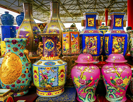 old chinese design of large colorful