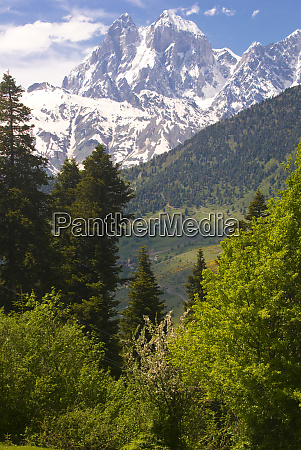 wonderful mountain scenery of svanetia with