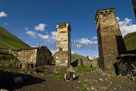the fortified village of ushguli svanetia