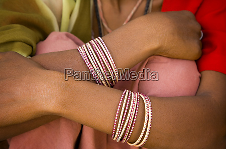 india rajasthan close up of bracelets