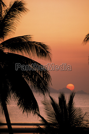 asia thailand ko samui island sunset