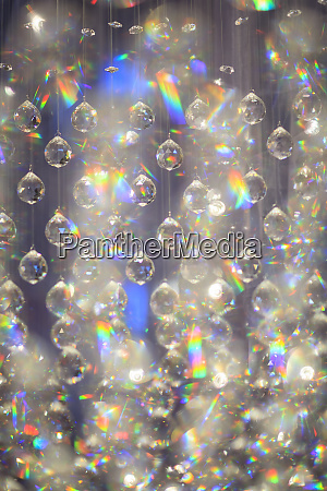 hanging glass decorations graphic prismatic effect