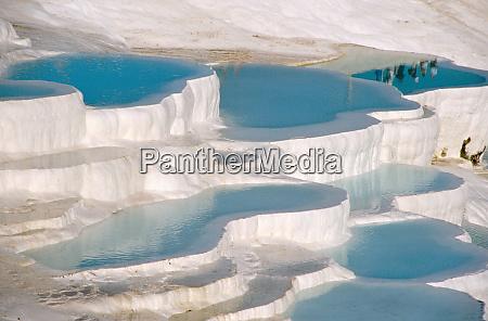 turkey pamukkale cotton castle limestone laden