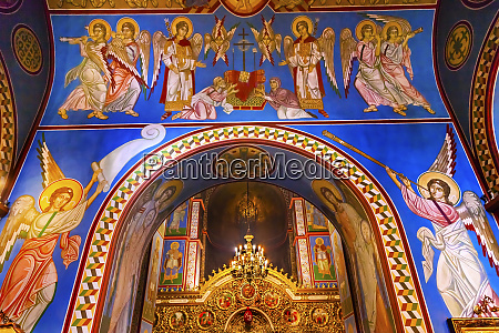 ancient mosaics golden screen icons saint