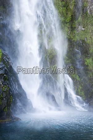 new zealand south island waterfall spills