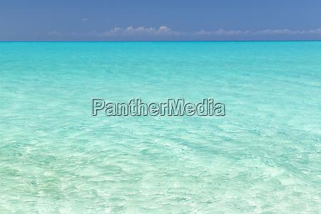 bahamas little exuma island seascape of