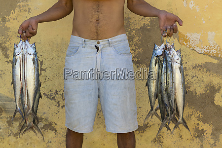 cuba trinidad fish vendor on the