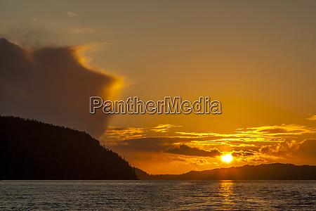 canada british columbia inside passage sunset