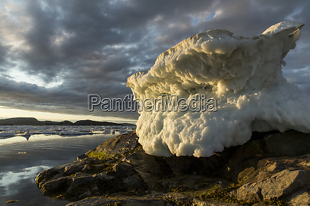 canada nunavut territory melting sea ice