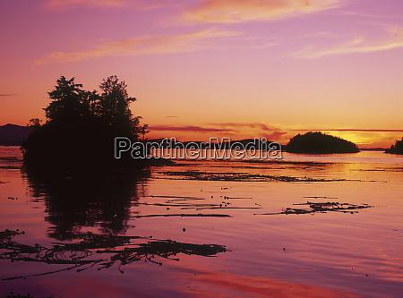 inside passage vancouver island sunset scenic