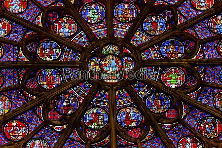 south rose window jesus disciples stained