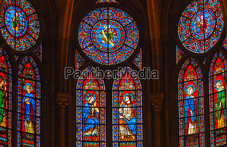 jesus christ mary angels stained glass