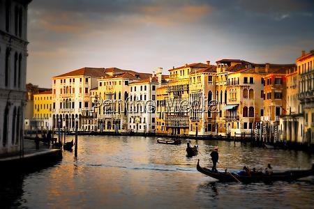 italy venice gondolas on grand canal