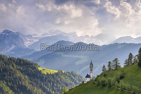 europe italy dolomites wengen landscape with