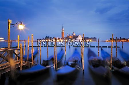 europe italy venice sunset on gondolas