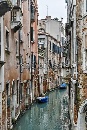 europe italy venice narrow canal in
