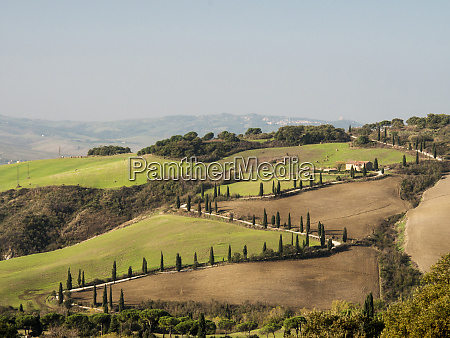 europe italy tuscany zig zag road