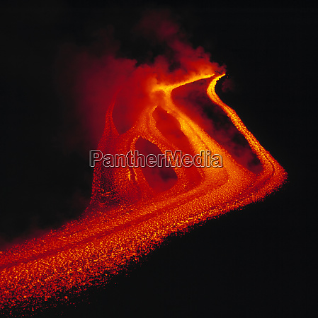 italy sicily mt etna lava the
