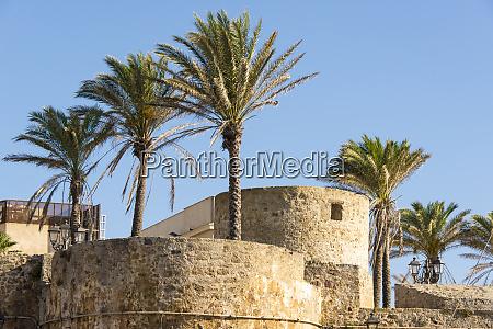 italy sardinia alghero view of historic