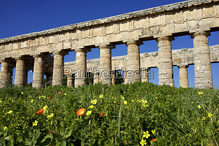 italy sicily segesta greek temple is
