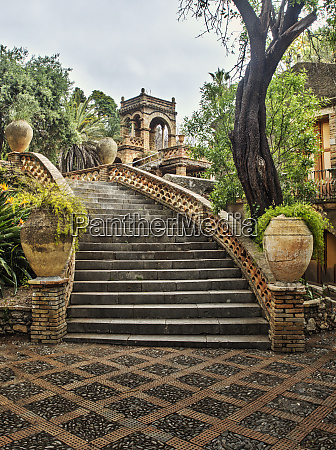 stairway and scenes from taormina