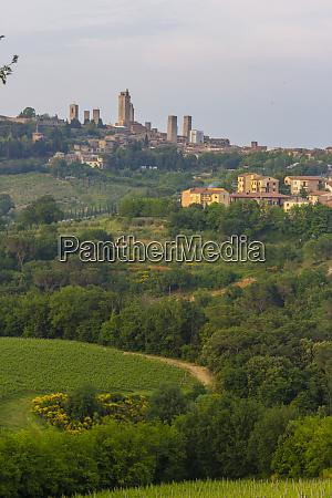 san gimignano skyline tuscany italy