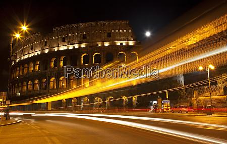 colosseum modern street abstract night moon