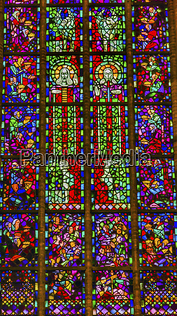 jesus christ stained glass new cathedral