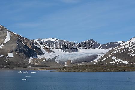 norway barents sea svalbard spitsbergen liefdefjord
