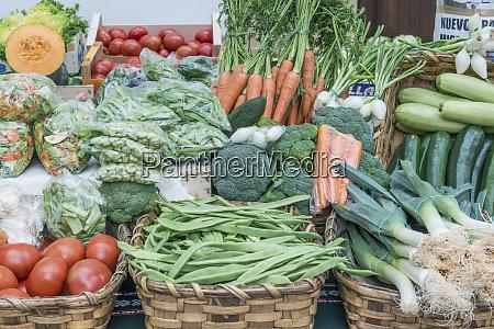 spain san sebastian vegetables for sale