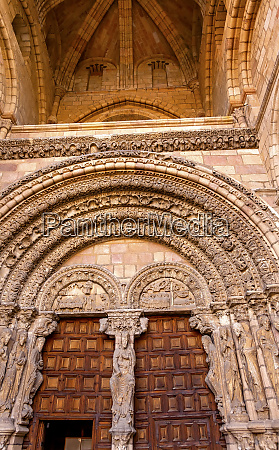 cathedral door avila castile spain gothic