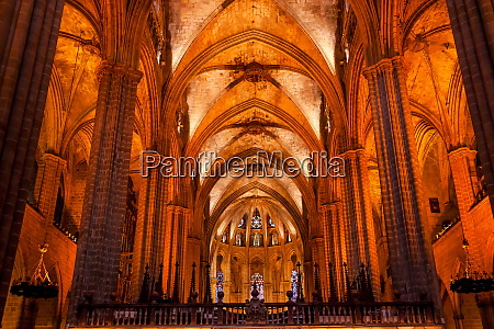 gothic barcelona cathedral in catalonia barcelona