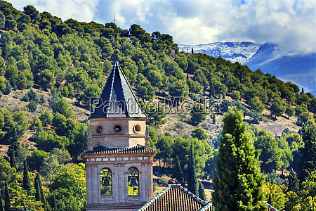 alhambra church castle towers farm and