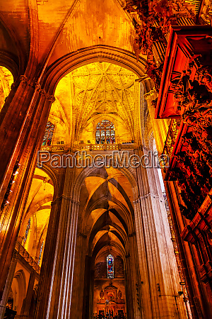 columns seville cathedral seville andalusia spain