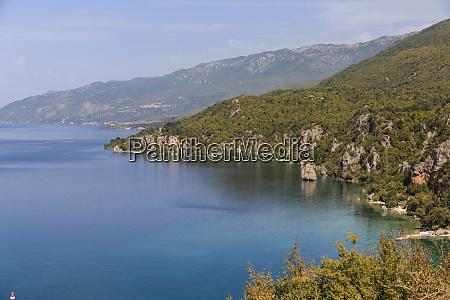 macedonia ohrid and lake ohrid landscape