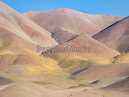 the mountains of the altiplano near