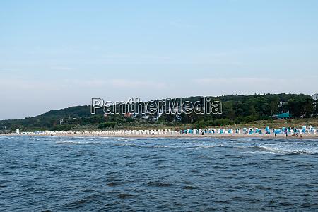 the beach of the seaside resort