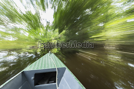 motion blur over water as the
