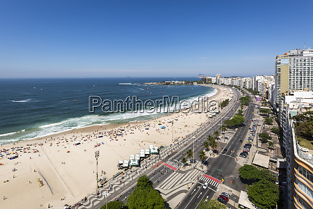 view of copacabana beach from hotel