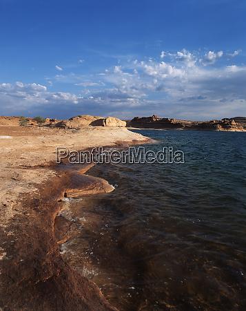 usa arizona utah view of lake
