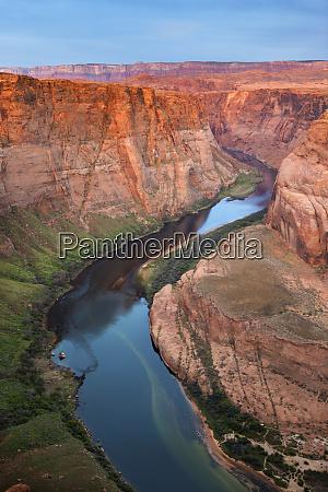 usa arizona colorado river flows around