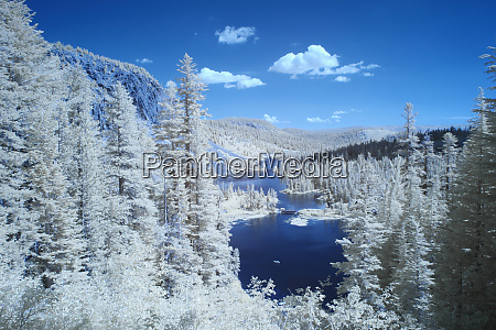 usa california mammoth lakes infrared overview