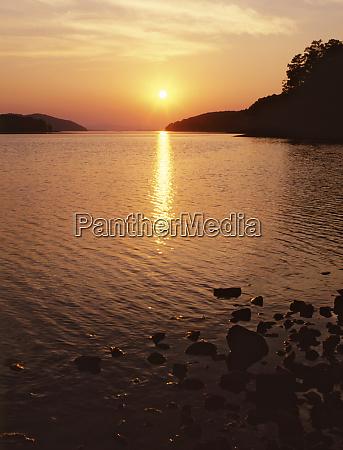 usa arkansas ouachita national forest sunset