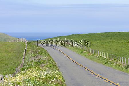 usa california two land road through