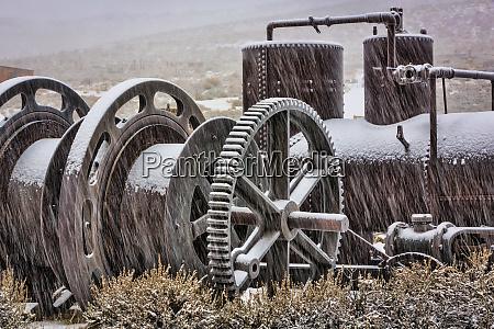 usa california bodie old mining machinery