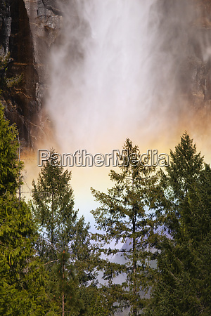 usa california yosemite national park rainbow