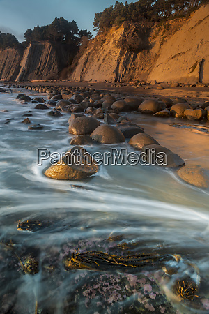 usa california bowling ball beach at